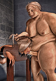 I want the tip of that tongue inside the piss hole - Dungeon by Ken